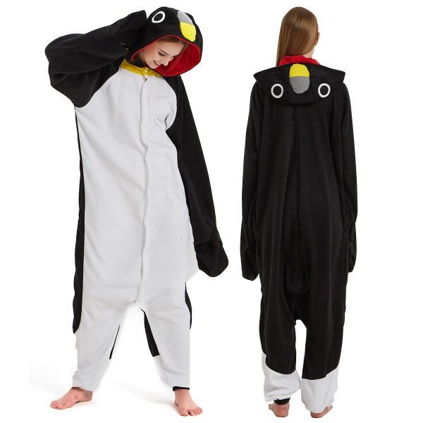 Black Penguin Onesie Pajamas Adult Animal Onesies