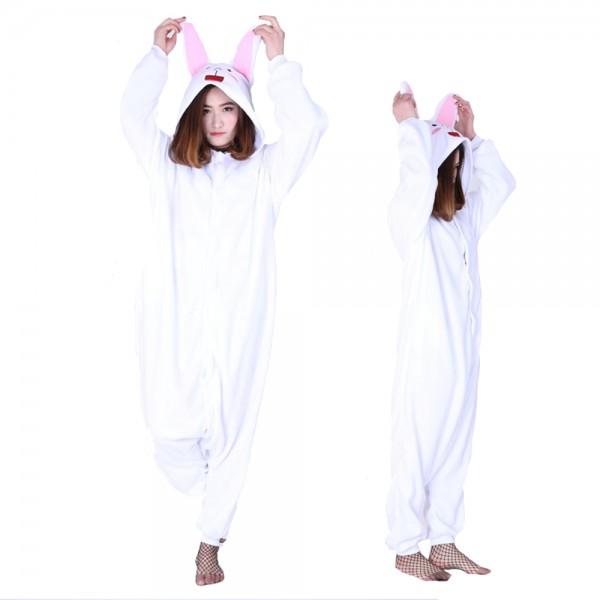 Cony Bunny Onesie Pajamas Costumes Adult Animal Onesies Button Closure