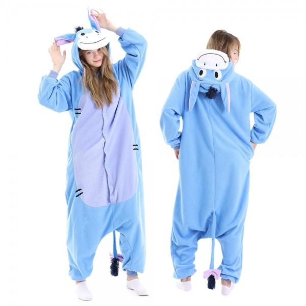Eeyore Winnine the Pooh Onesie Pajamas for Adult Animal Onesies Halloween Costumes