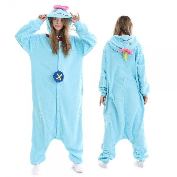 Srump the Doll Lilo & Stitch Onesie Pajamas for Adult Animal Onesies Halloween Costumes