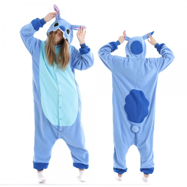 Stitch Onesie Pajamas for Adult Animal Onesies Halloween Costumes
