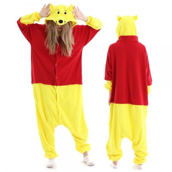Winnie the Pooh Onesie Pajamas for Adult Animal Onesies Halloween Costumes
