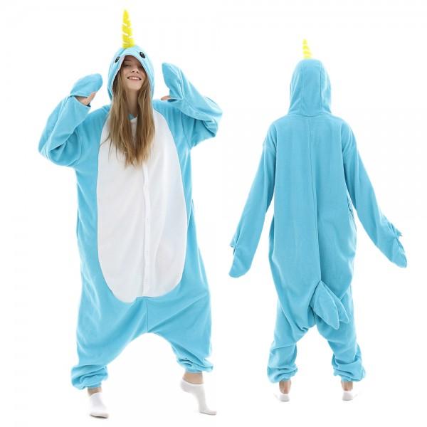 Narwhal Onesie Pajamas for Adult Animal Onesies Halloween Costumes