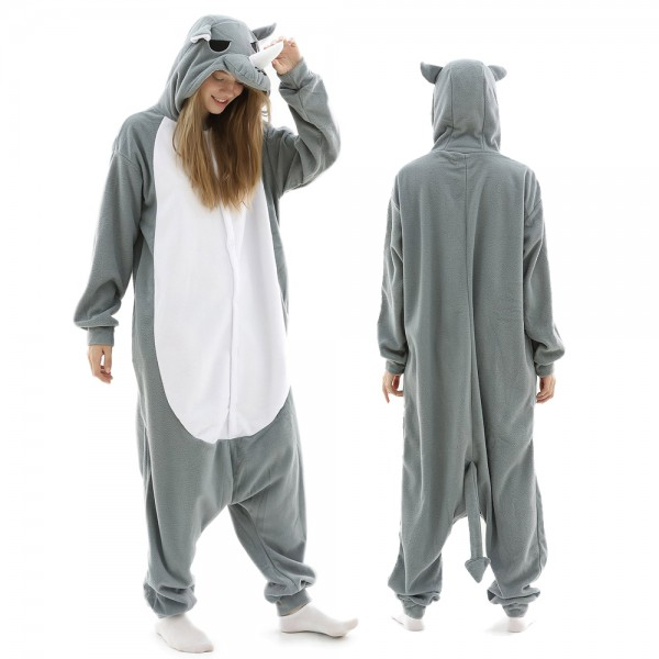 Rhinoceros Onesie Pajamas for Adult Animal Onesies Halloween Costumes