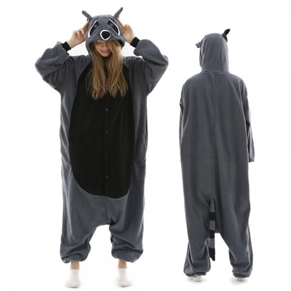 Raccoon Onesie Pajamas for Adult Animal Onesies Halloween Costumes