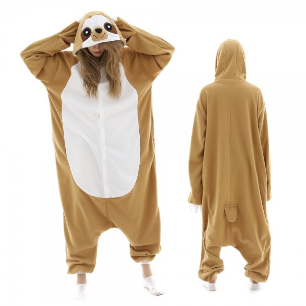 Sloth Onesie Pajamas for Adult Animal Onesies Halloween Costumes