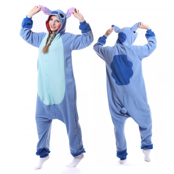 Blue Stitch Onesie Pajamas Adult Animal Onesies Halloween Costumes