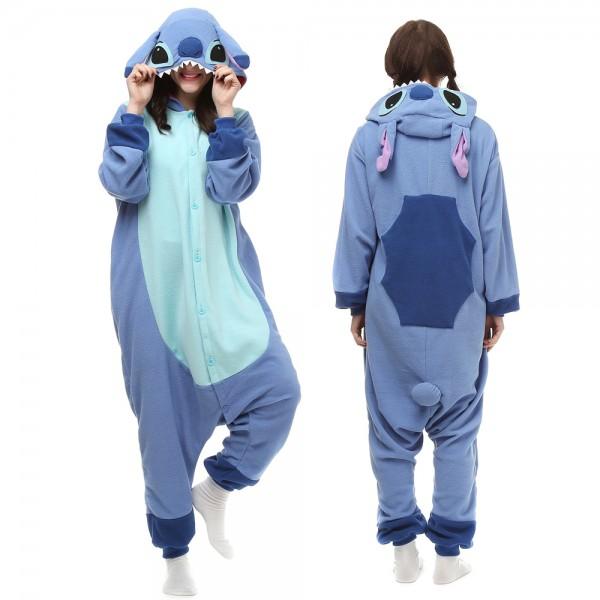 Stitch Onesie Pajamas Adult Animal Onesies Halloween Costumes