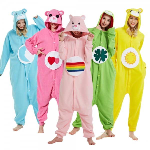 Care Bear Onesie Pajamas Adult Animal Onesies Halloween Costumes