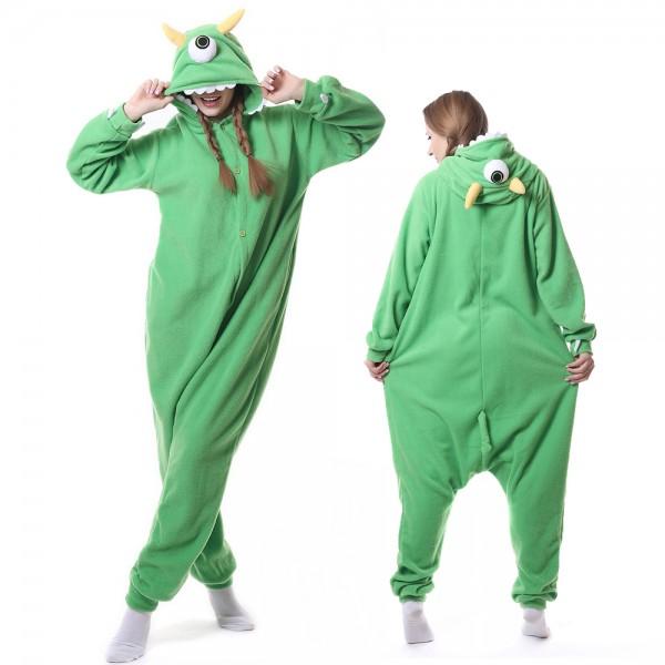 Mike Wazowski Onesie Pajamas for Adult Animal Onesies Cosplay Halloween Costumes