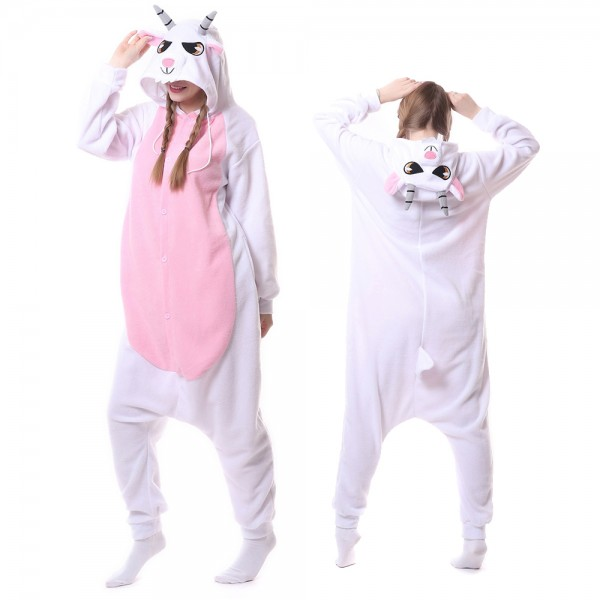 Goat Onesie Pajamas for Adult Animal Onesies Cosplay Halloween Costumes