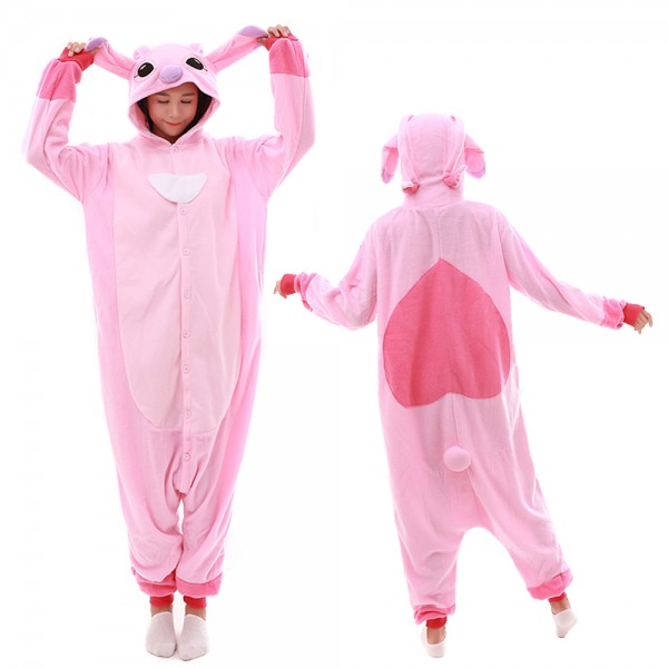 Pink Stitch Onesie Pajamas for Adult Animal Onesies Cosplay Halloween Costumes