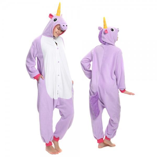Purple Unicorn Onesie Pajamas for Adult Animal Onesies Cosplay Halloween Costumes