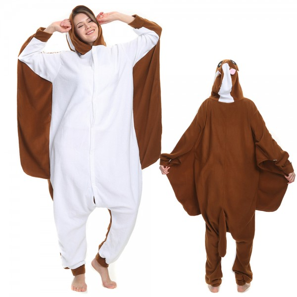 Flying Squirrel Onesie Pajamas for Adult Animal Onesies Cosplay Halloween Costumes