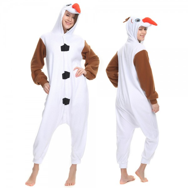 Olaf Onesie Pajamas for Adult Animal Onesies Cosplay Halloween Costumes
