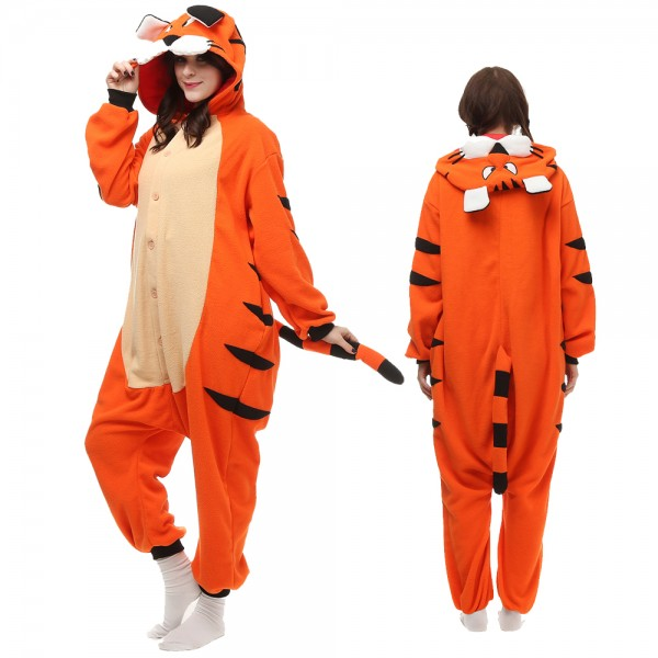 Tiger Onesie Pajamas for Adult Animal Onesies Cosplay Halloween Costumes