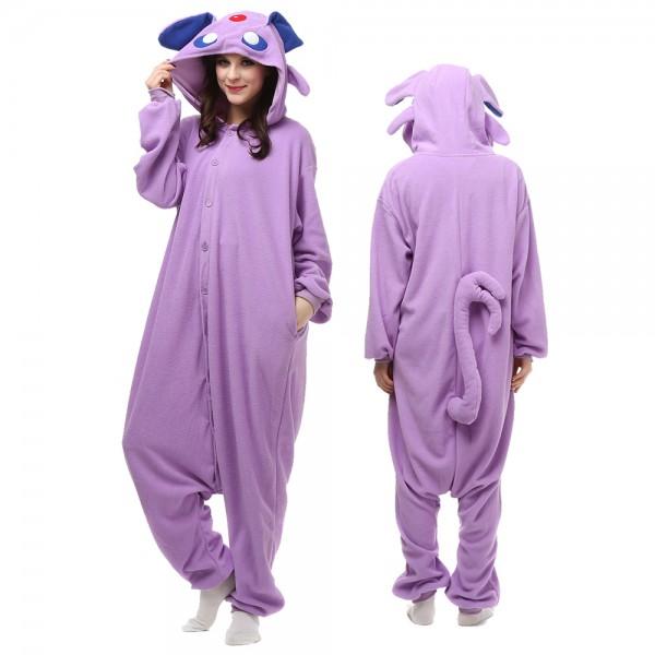 Espeon Onesie Pajamas for Adult Animal Onesies Cosplay Halloween Costumes