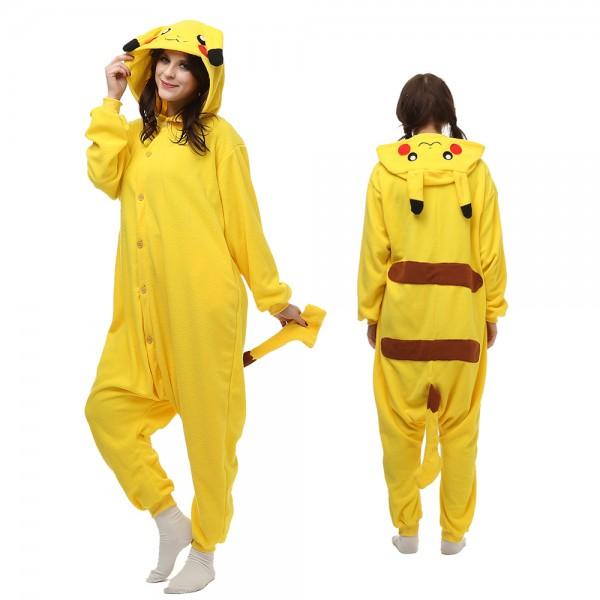 Pikachu Onesie Pajamas for Adult Animal Onesies Cosplay Halloween Costumes