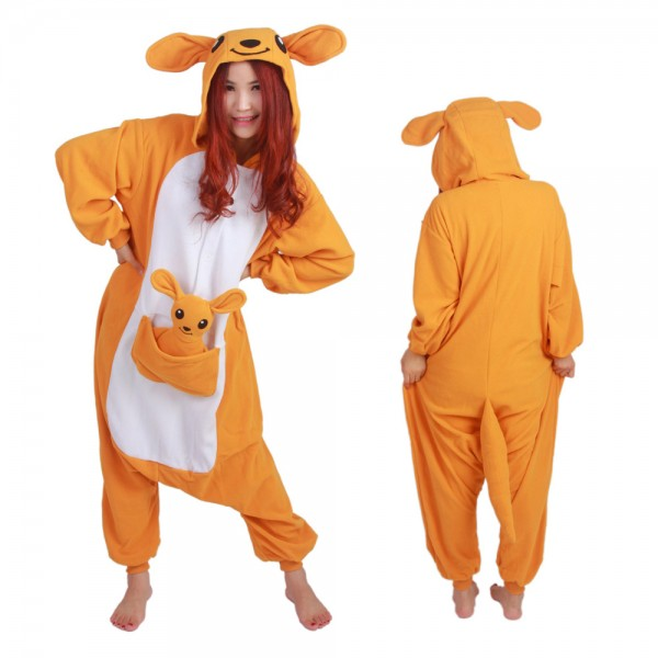 Kangaroo Onesie Pajamas for Adult Animal Onesies Cosplay Halloween Costumes