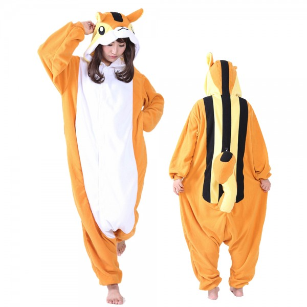 Squirrel Onesie Pajamas for Adult Animal Onesies Cosplay Halloween Costumes
