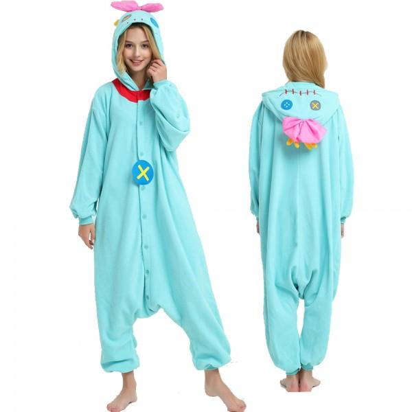 Scrump Doll Onesie Pajamas for Adult Animal Onesies Cosplay Halloween Costumes