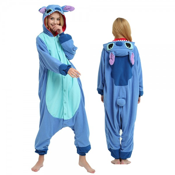 Stitch Onesie Pajamas for Adult Animal Onesies Cosplay Halloween Costumes