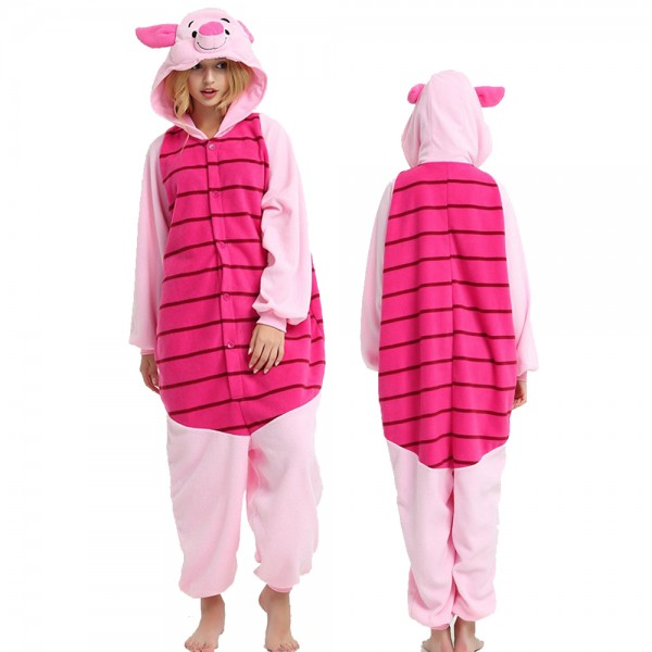 Piglet Onesie Pajamas for Adult Animal Onesies Cosplay Halloween Costumes