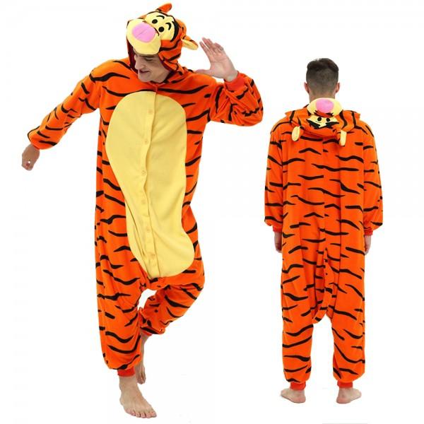 Tigger Onesie Pajamas for Adult Animal Onesies Cosplay Halloween Costumes