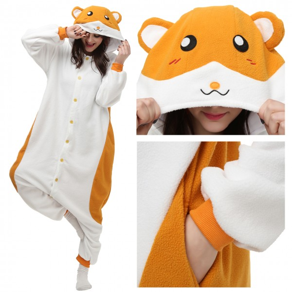 Hamtaro Onesie Pajamas for Adult Animal Onesies Cosplay Halloween Costumes