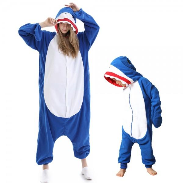 Shark Onesie Pajamas for Adult & Kids Animal Onesies Halloween Costumes