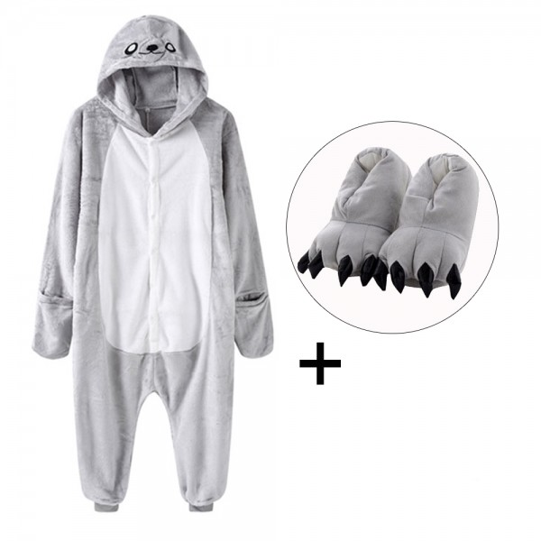 Seal Onesie Pajamas Costume for Adult & Kids with Slippers