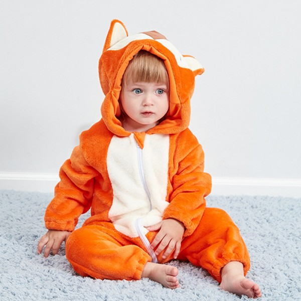 Fox Baby Boy & Girls Animal Cute Oneises Pajamas Costume