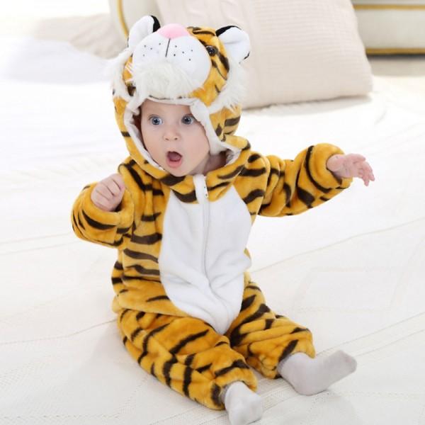 Tiger Baby Boy & Girls Animal Cute Oneises Pajamas Costume