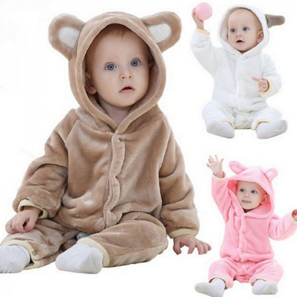 Bear Baby Boy & Girls Animal Cute Oneises Pajamas Costume