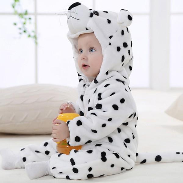 Snow Leopard Baby Boy & Girls Animal Cute Oneises Pajamas Costume