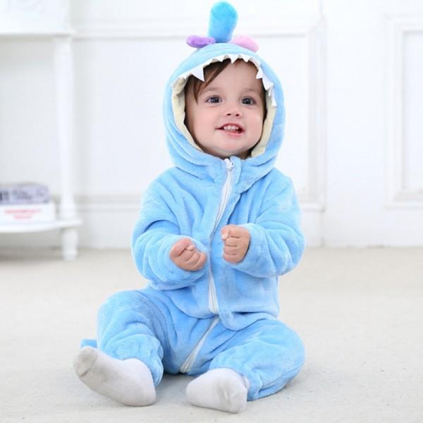 Blue Monster Baby Boy & Girls Animal Cute Oneises Pajamas Costume