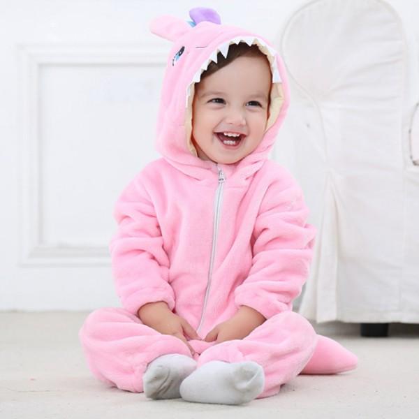 Pink Monster Baby Boy & Girls Animal Cute Oneises Pajamas Costume