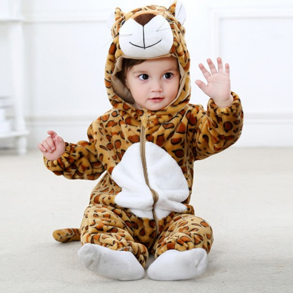 Leopard Baby Boy & Girls Animal Cute Oneises Pajamas Costume
