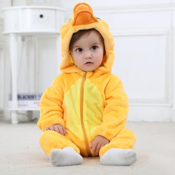 Yellow Duck Baby Boy & Girls Animal Cute Oneises Pajamas Costume
