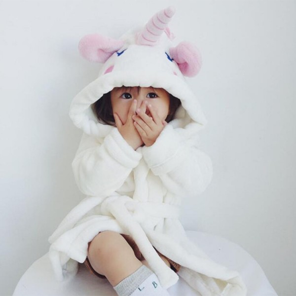 Unicorn Robe for Baby Flannel Bathrobe