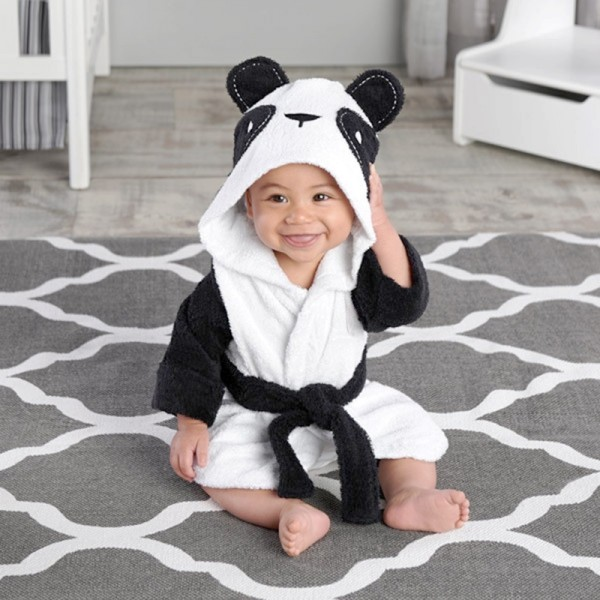 Panda Robe for Baby Flannel Bathrobe