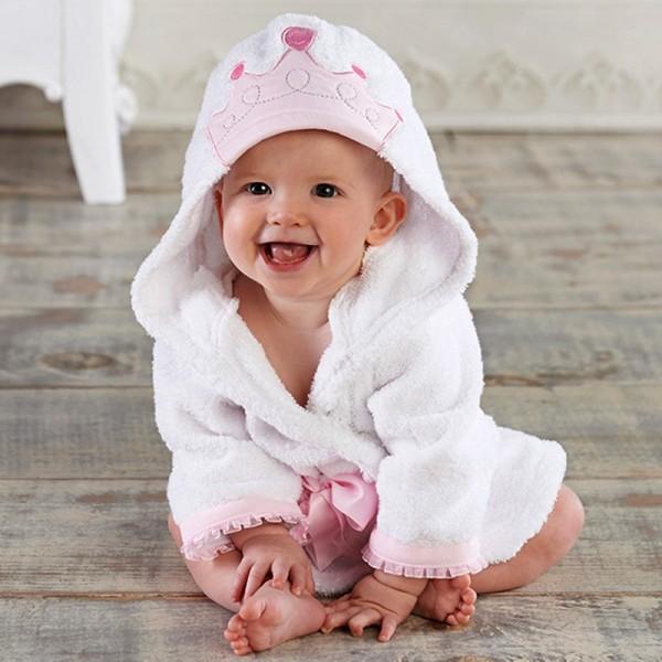 Crown Robe for Baby Flannel Bathrobe