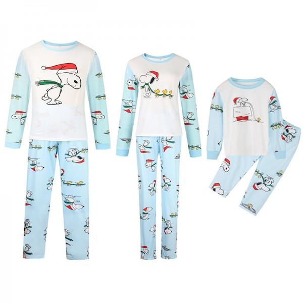 Snoopy Dog Matching Family Pajamas Sets Holiday Pajamas