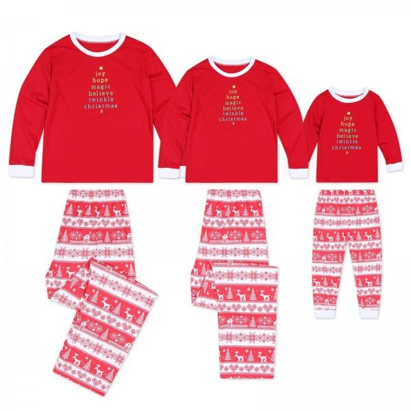 Christmas Tree Red Matching Family Christmas Pajamas