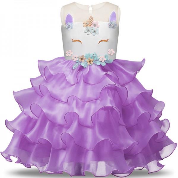 Unicorn Dress Girls Unicorn Costume Outfit in Purple