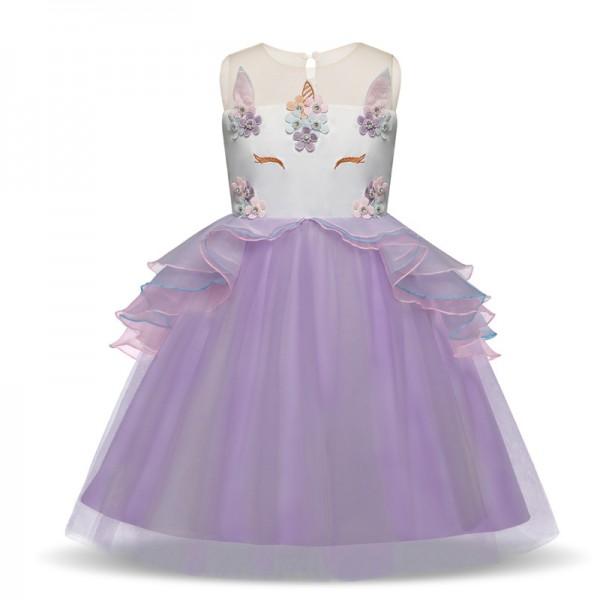 Girls Unicorn Costume Unicorn Dress in Purple