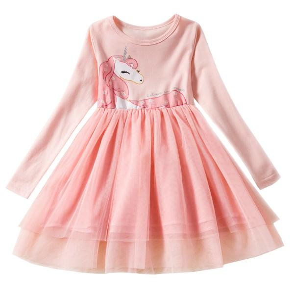 Girls Unicorn Dress in Pink
