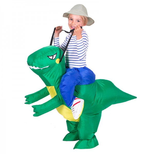 Blow Up Costume Inflatable T Rex Dinosaur Costumes Halloween Funny Suit For Kids
