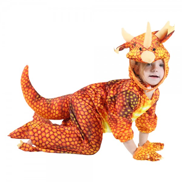 Dinosaur Costumes Orange for Toddler Party Halloween Animal Funny Suit