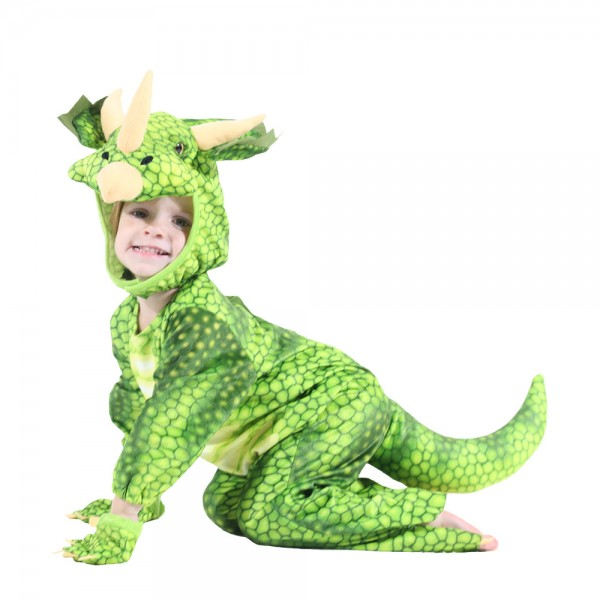 Dinosaur Costumes Green for Toddler Party Halloween Animal Funny Suit